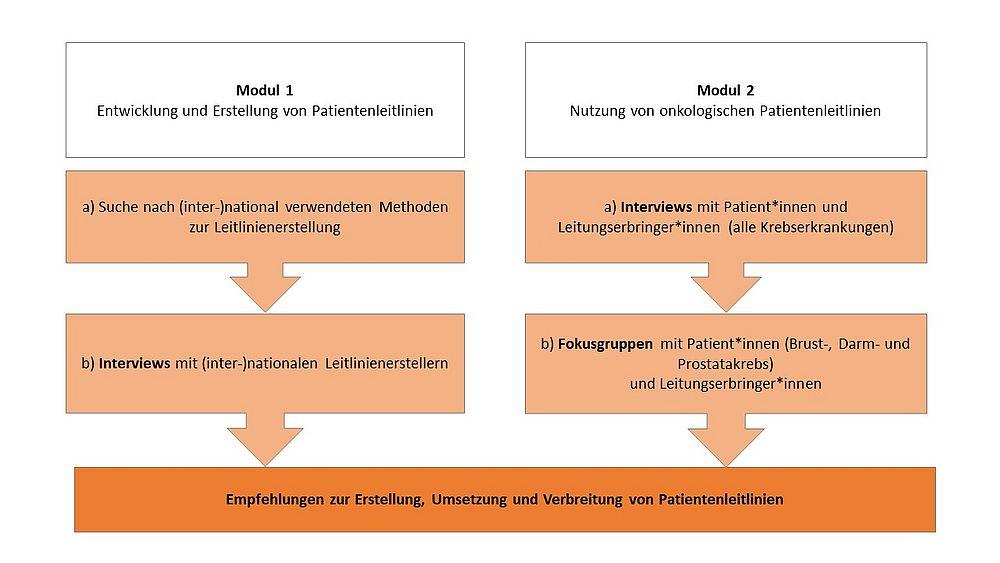 Grafische Darstellung der Module